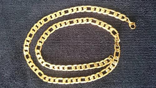 Cadena Oro Laminado Italiano 24k Diamantada - $ 430.00 en Mercado Libre
