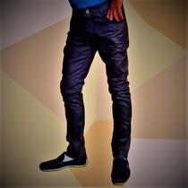 Calça Jeans Resinada Masculina Skinny Premiun Gangster Promo