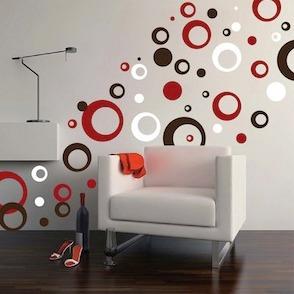 Vinilo Decorativo C 237 Rculos 3 Colores Sticker Viniles