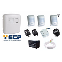Kit Alarme Ecp Alard Max 4 + Sensores + Bateria + Acessórios