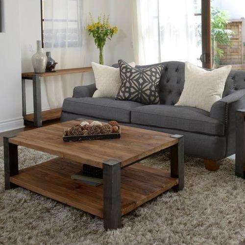 Mesa de centro vintage de palets 1 en mercado libre - Antique side tables for living room ...
