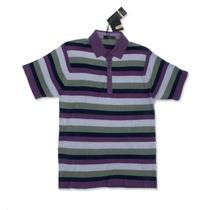 Camisa Tipo Polo Com Tecido Feito Com Lã De Seda.