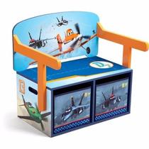 Banco Escritorio Infantil Con Almacenamiento Aviones
