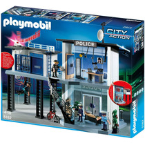 Playmobil City Action Comisaria De Policia Con Alarma 5182