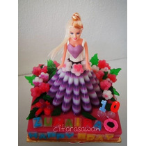 Molde Grande Gelatina Artistica Falda Barbie Princesas