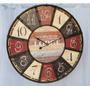 Reloj De Pared Estilo Antiguo Vintage Diámetro 60 Cm