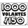 1000volantes Folletos C/entrega Y Diseño-blanco Y Negro10x15