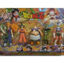 Kit Com 5 Bonecos Dragon Ball Z Articulados Goku Vegeta 14cm