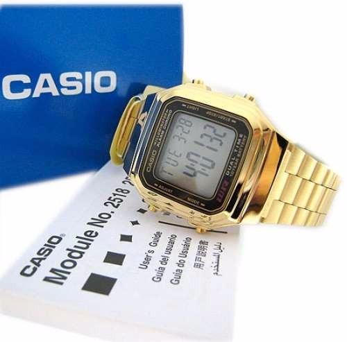 3855dab3ed2 Relogio Casio Original Casio A178 Retrô Dourado A178wga 1adf - R  229