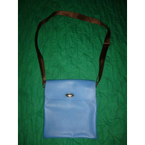 Cartera De Damas, Color Azul, Marca Furla