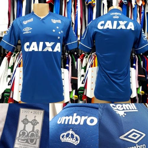 e3ac8933b5 Camisa Cruzeiro - Comemorativa - Umbro - 2017 - Nova - P - R  199