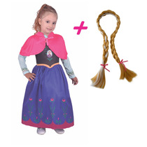 Disfraz + Trenza Princesa Frozen Anna Newtoys - Mundo Manias