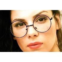 7c797cd7920f2 Óculos De Grau - Armação Redondo Retro Dourado - R  34