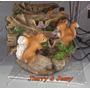 Fonte De Água Em Resina Esquilos - Decorativa De Mesa 110v