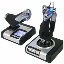 Simulador Joystick Pc Usb Manche Saitek X52 Flight Simulator