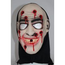 Máscara Látex Monstro Tiro Fuzilado Capuz Fantasia Halloween