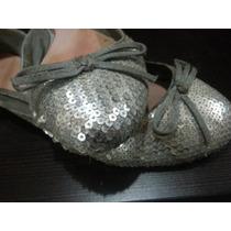 Lindos Zapatos Zara De Lentejuelas Originales Talla 39