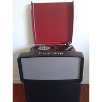 Vitrola Portatil Crosley Collegiate Cr6010a Usb Red Cream