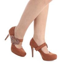 Sapato Boneca Salto Feminino Lara - Caramelo