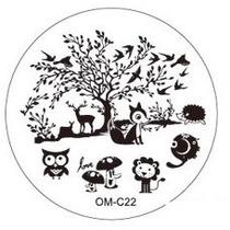 Placa Para Decoración De Uñas Con Sello Om-c22