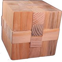 Rompecabezas De Madera Cubo 3d