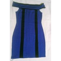 Vestido Casual De Licra Azul Marca Forever 21 Talla M