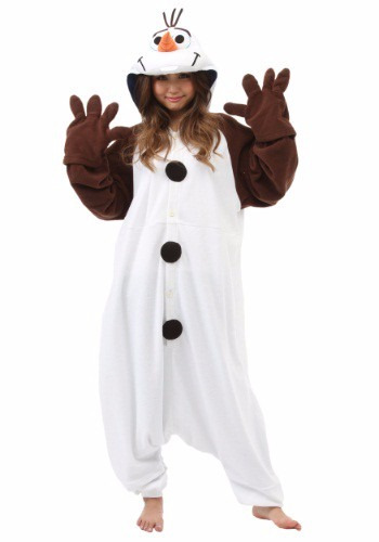 0daa8a2dc Disfraz Pijama Mameluco Mono De Nieve Olaf Frozen Adultos -   3