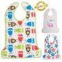 Babador De Plástico Com Porta Migalhas Criança Bebê