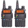 Kit 2 Rádio Ht Digital Policia Dual Band Baofeng 128 Canais