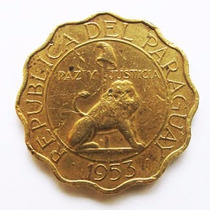 Moeda Paraguay 50 Centimos 1953