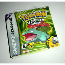 Pokemon Leaf Green Version Original Completo - Gba Game Boy