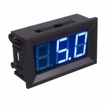 Voltímetro Digital Medidor Bateria Som Automotivo Com 3 Fios
