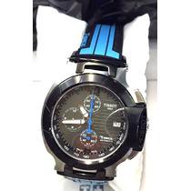 Relógio Tissot Azul Preto Prc200 1853 100% Funcional Ultimos