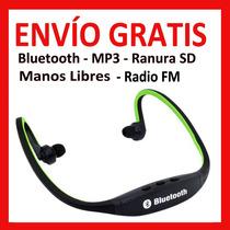 Lote 10 Pz Audifonos Bluetooth Mp3 Ranura Sd Radio Fm