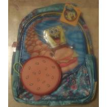 Backpack Mochila Kinder Bob Esponja 3d