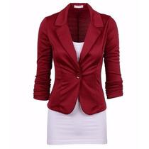 Blazer Feminino Casaco Jaqueta Terninhos Coloridos 1 Botão