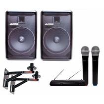 Kit Som P/ Igreja 600w Rms Datrel Jbl + Microfone Sem Fio