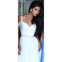 Vestido Sherri Hill Style 50086 Color Blanco Nuevo Talla 8