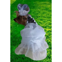 Vestido Noiva Moda Pet Sobre Medida Cães Cachorro Dama