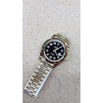 Rolex Datejust 002rx Midas Oro Esfera Negra 40mm Automatico