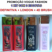 Promoção Vogue Fashion Definitiva + London Luxo + 4d Brush
