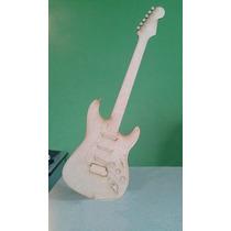 25 Figuras Guitarra Mdf Tipo Stratocaster 35 Cm Sin Base