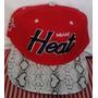Gorra Miami Heat Animal Print Plana Ajustable Broche Roja.