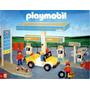 Playmobil Estacion De Servicio + 3 Figuras Art. 1-3437