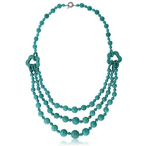 5fe36fe2040b Gem Stone King 24 Impresionante Turquesa Howlite Beads Colla -   101.990 en  Mercado Libre