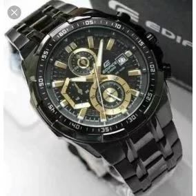 6ec206bbb6d Relógio Casio Masculino Edifice Ef539 Black Gold Original - R  399 ...