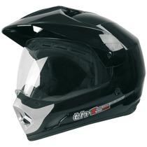 Capacete Cross C/viseira Top Helmet Th1 Preto 56 Protork