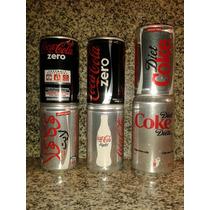 6 Latitas Coca Cola De Coleccion