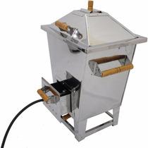 Churrasqueira Bafo Aço Inox Gás Carvão Até 32kg + Kit Gás