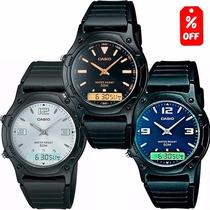 Reloj Caballero Casio Aw49 - Análogodigital - Wr 50m - Cfmx